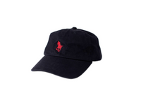 skate horse dad cap - red