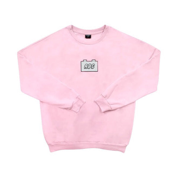 the bloc. oversized crewneck - light pink