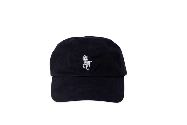 skate horse dad cap - white