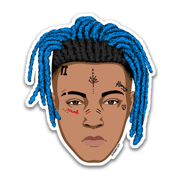 XXXTentacion Blue - Sticker