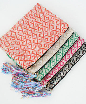 SLS1606 ETHNIC COLOR TASSEL CLUTCH 에스닉 테슬 클러치 [5COLOR]