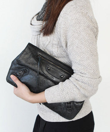 PREMIUM SHEEPSKIN CLASSIC ENVELOPE CLUTCH [BLACK] 클래식 엔벨롭 클러치 Ver.2  [블랙]