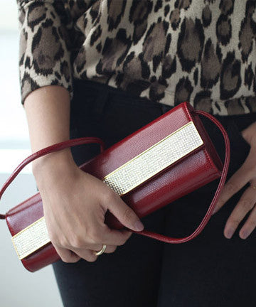 SKH12  Luxury Cubic Clutch [Red]