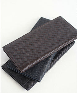 PREMIUM LAMBSKIN  Weaving Passport Wallet 위빙 여권 장지갑  [3COLOR]