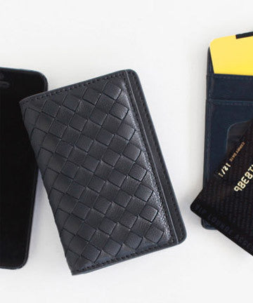 PREMIUM LAMBSKIN  WEAVING CARD CASE 위빙 카드명함 케이스 [16COLOR]