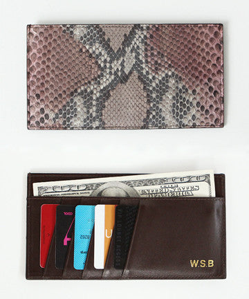 W.S.B  REAL PYTHON  SLIM CARD WALLET  파이톤 슬림 카드 지갑  [7COLOR]