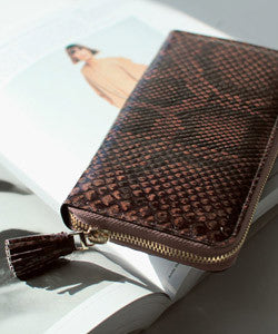 REAL ANACONDA Python TASSEL Wallet [Brown Type] 파이톤 테슬 장지갑  [브라운타입]
