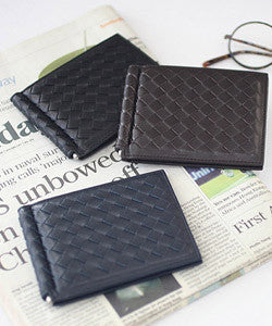 PREMIUM LAMBSKIN Weaving Money Clip 위빙 머니클립 [4 COLOR]