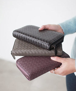 PREMIUM LAMBSKIN Weaving Continental Wallet 위빙 컨티넨탈 장지갑  [5COLOR]