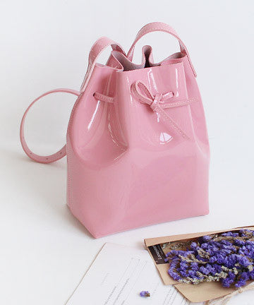 LeS-un0223 Bell Enamel Bucket Cross Bag 벨 에나멜 크로스백  [5COLOR]