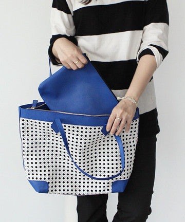 LJS-0514 MESH SHOPPER BAG  메쉬 쇼퍼백  [6COLOR]