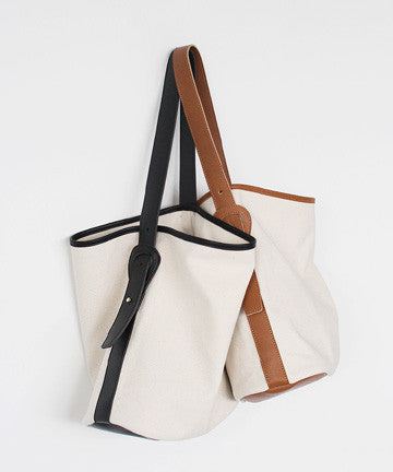 Moment Canvas Shoulder Bag 모멘트 캔버스 숄더백 [3COLOR]