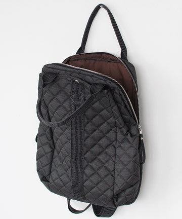 SGJ-0225 H Simple Line Mannish Quilting BackPacK H 심플라인 메니쉬 누빔 백팩 [다크그레이]