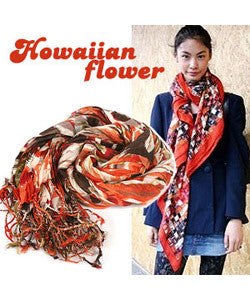 SCRAF Hawaii Flower Scarf [Green]  하와이안 플라워  [그린]