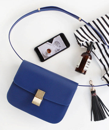 SK11-10 Classic Box Handbags [Cobalt Blue] 클래식박스 핸드백 MEDIUM [코발트블루]