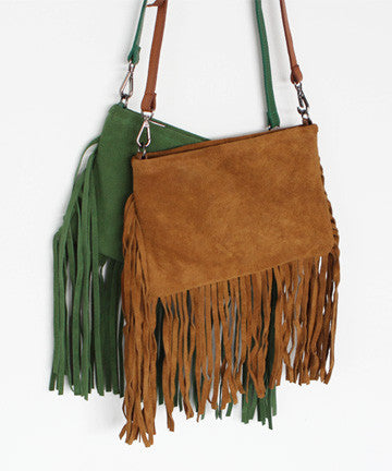 MNS0903 IRIS SUEDE TASSEL CROSS BAG LEATHER 아이리스 테슬 크로스백 Leather [5COLOR]