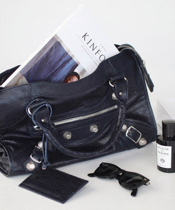 PREMIUM CALFSKIN SOFT VINTAGE MEDIUM SIZE GIANT CITY [Silver Midnight Navy] 자이언트 시티  [실버 미드나잇네이비]