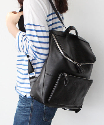PS0518  Leather ACRO BACKPACK [Black] 아크로 백팩 [블랙]