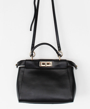 MNJ1144 LEATHER PEEKABOO TOTE BAG [ Medium] 피카부 토트백 미듐  [3COLOR]
