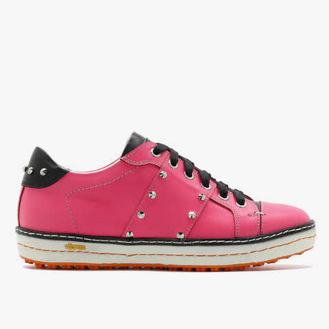 Womens Spikeless Golf Shoes W18101 Hot Pink and Matt Black