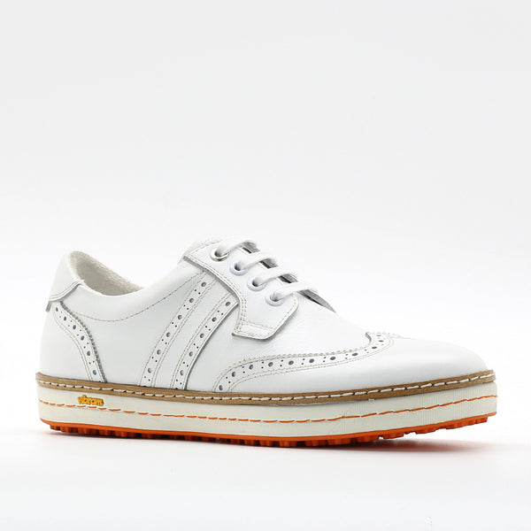 Womens Spikeless Golf Shoes W18102 Wingtip White