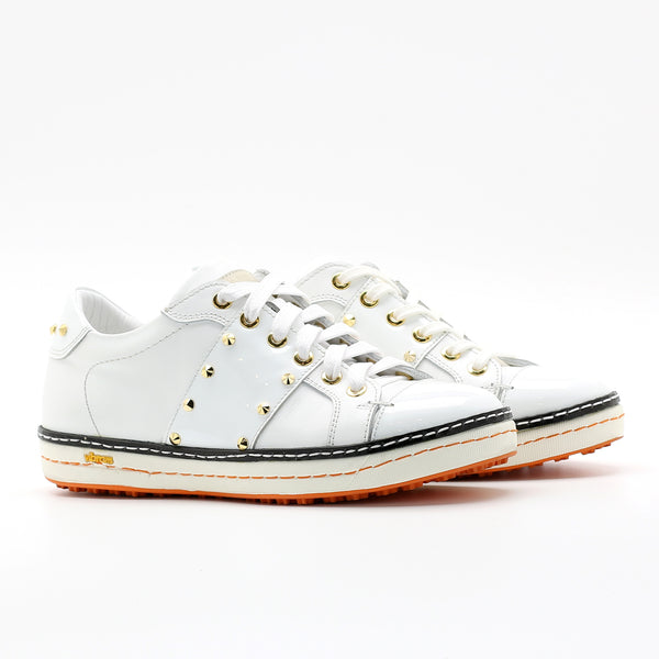 Womens Spikeless Golf Shoes W18101 Glossy White and Matt White