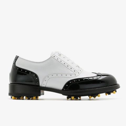 Classic Womens Golf Shoes 172201 Glossy Black and matt white