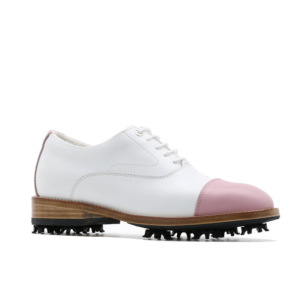 Classic Womens Golf Shoes 173301 matt Pink and white
