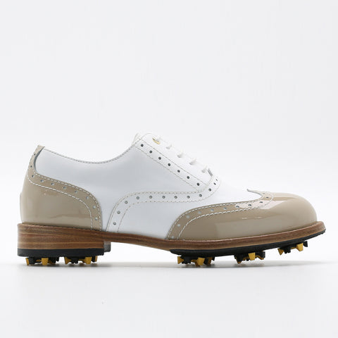 Classic Womens Golf Shoes 172201 Glossy Togo and Matt white