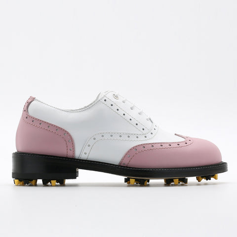 Classic Womens Golf Shoes 172201 Matt Pink and Matt white