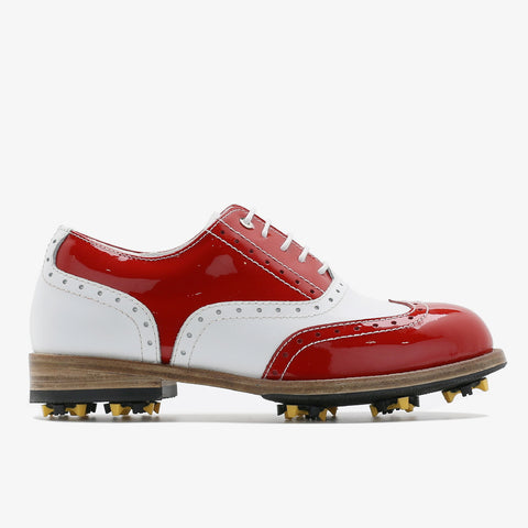 Classic Womens Golf Shoes 172201 Glossy Red and Matt white