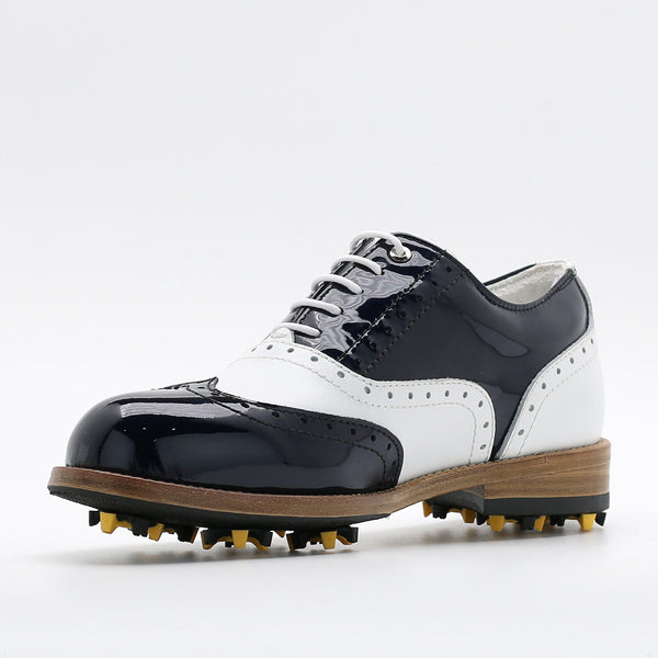 Classic Womens Golf Shoes 172201 Glossy Navy and Matt white