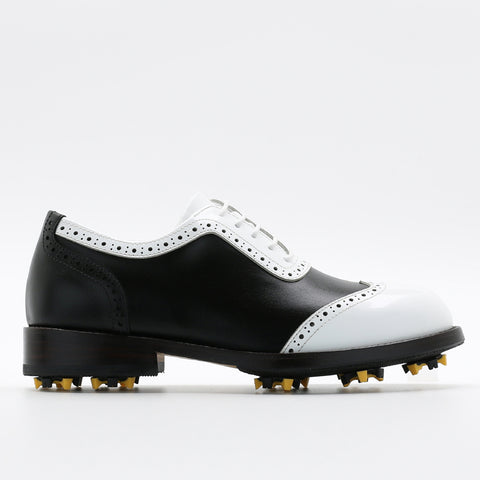 Classic Womens Golf Shoes 172203 Glossy white and Matt Black