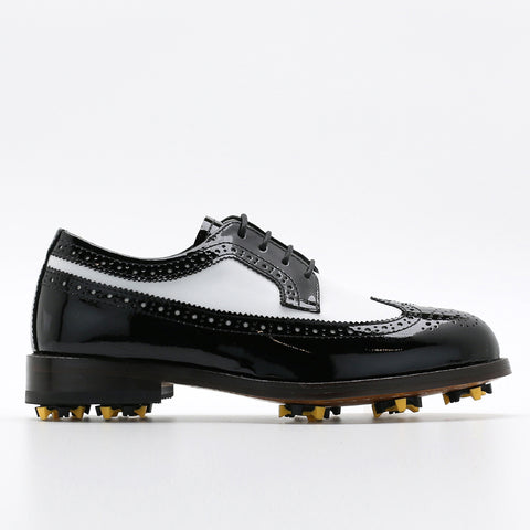Classic Womens Golf Shoes 172202 Glossy Black and Matt white