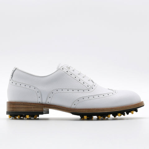 Classic Mens Golf Shoes 177701 Emboss White