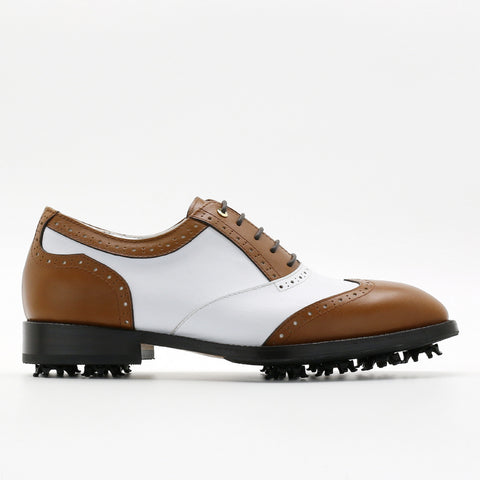 Classic Mens Golf Shoes 178801 Matt Brown and Matt White