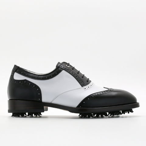 Classic Mens Golf Shoes 178801 Matt Black and Matt White