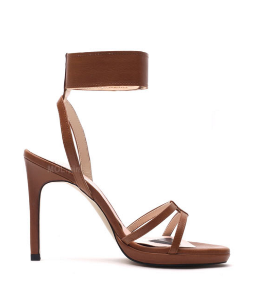 Wide velcro ankle band platform sandals P93022MP [BROWN] WOMEN'S LADIES PREMIUM HANDMADE SHOES.