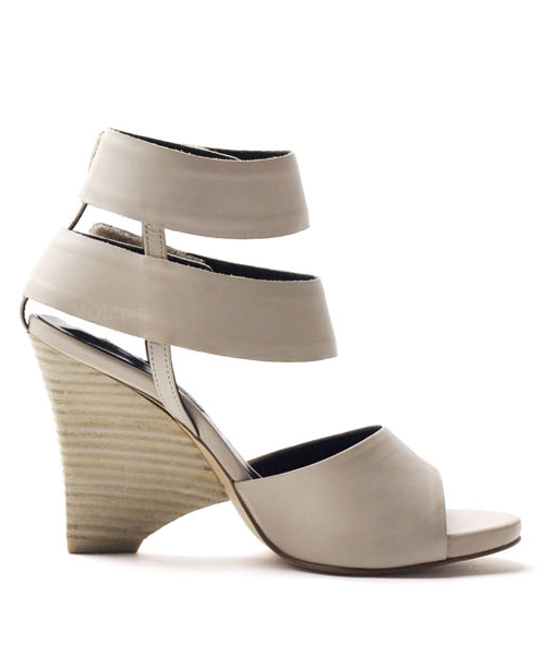 Wide velcro ankle strap wedge heeled sandals P4238MP [BEIGE] WOMEN'S LADIES PREMIUM HANDMADE SHOES