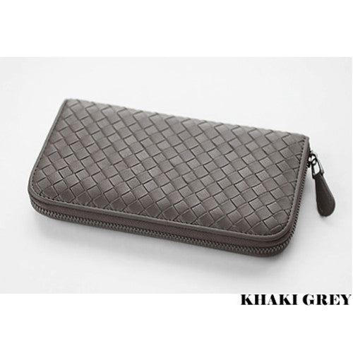 PREMIUM LAMBSKIN  WEAVING ZIP WALLET  위빙 ZIP 장지갑 [18COLOR]
