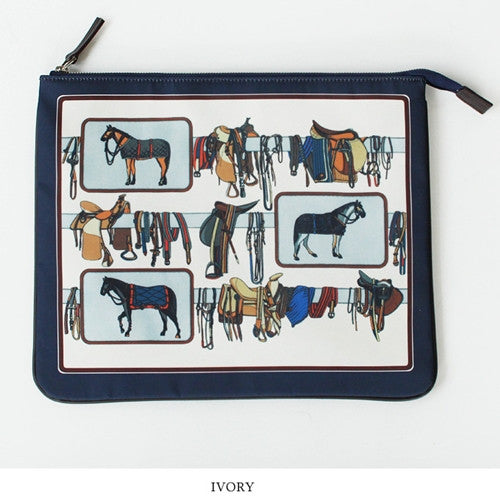 MoS-0331 Horse Travel Clutch 홀스 트레블 클러치 [2COLOR]