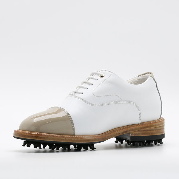 Classic Womens Golf Shoes 173301 Glossy Togo and Matt white