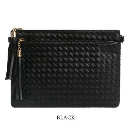 WEVING TASSEL CLUTCH 753. 위빙 테슬 클러치  [4COLOR]