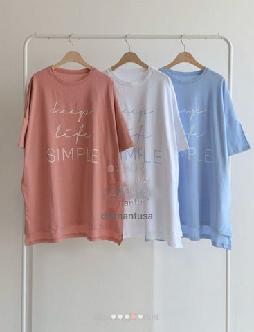3 design boxy style long t-shirt