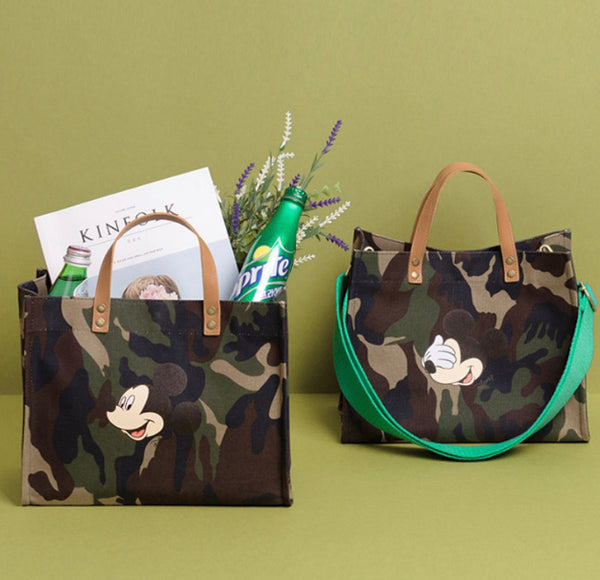 Mickey camouflage color strap bag