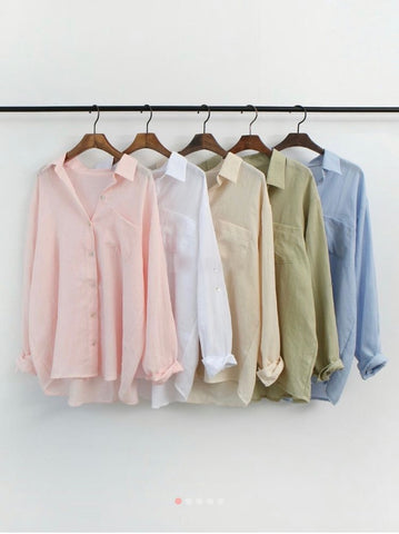 Linen long sleeve shirts