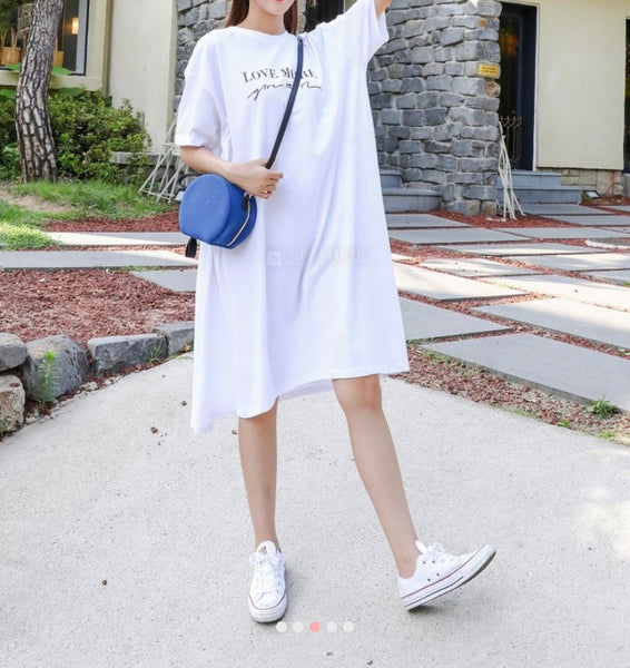 Boxy fit cotton dress