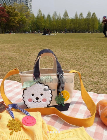 Smile canvas mini tote