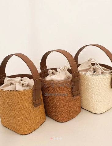 Ratan basket bag