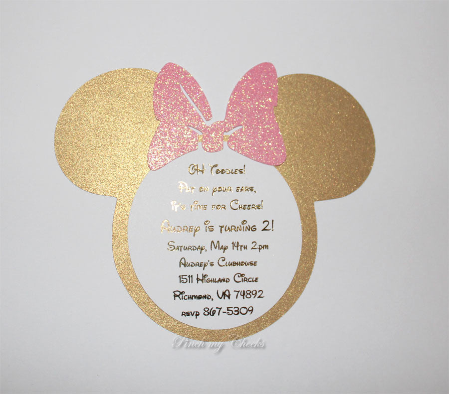 Minnie Mouse Invitations Pinch My Cheeks